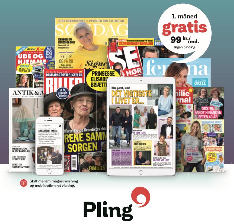 Få Billed Bladet Med Pling Første Måned Gratis
